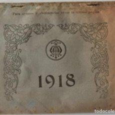 Coleccionismo Calendarios: CALENDARIO SEMANAL RELIGIOSO AÑO 1918 SIN USAR MUY CURIOSO CON FECHAS PARA AYUNOS Y ABSTINENCIAS. Lote 222239090