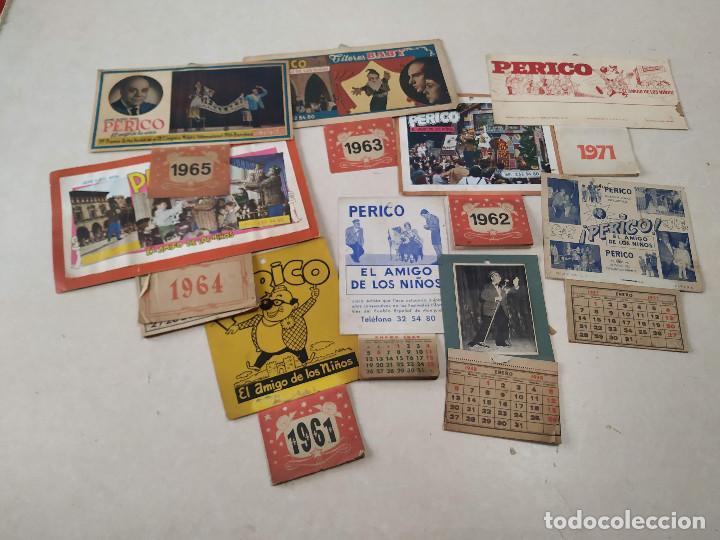 9 CALENDARIOS PERICO EL AMIGO DE LOS NIÑOS - AÑOS 1957-1971 - MAGIA - CIRCO - ESPECTÁCULO INFANTIL (Coleccionismo - Calendarios)