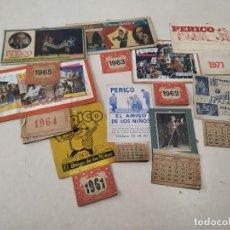 Coleccionismo Calendarios: 9 CALENDARIOS PERICO EL AMIGO DE LOS NIÑOS - AÑOS 1957-1971 - MAGIA - CIRCO - ESPECTÁCULO INFANTIL. Lote 222364766