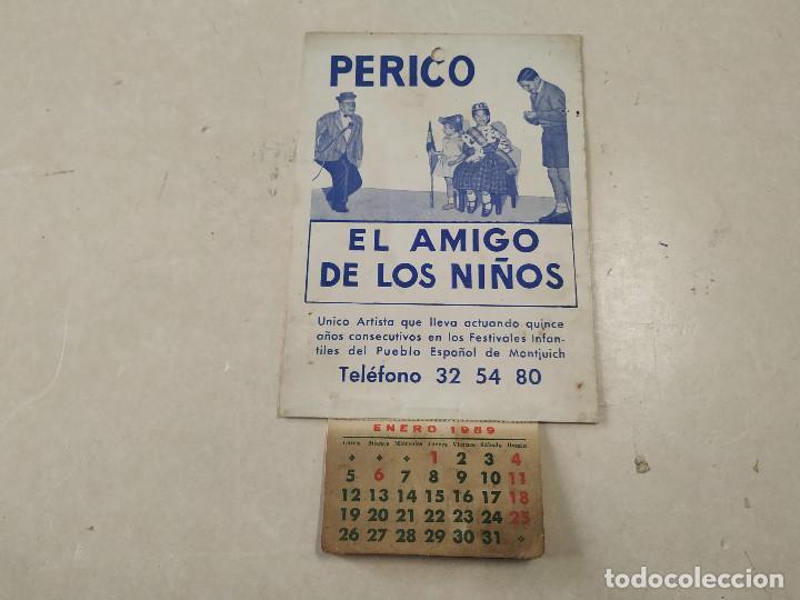 Coleccionismo Calendarios: 9 CALENDARIOS PERICO EL AMIGO DE LOS NIÑOS - AÑOS 1957-1971 - MAGIA - CIRCO - ESPECTÁCULO INFANTIL - Foto 4 - 222364766