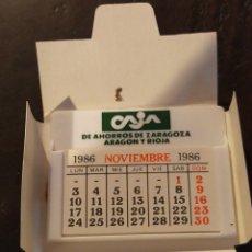 Coleccionismo Calendarios: CALENDARIO COCHE CAJA DE AHORROS DE ZARAGOZA ARAGÓN Y RIOJA 1986. Lote 222393387