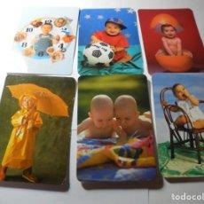 Coleccionismo Calendarios: MAGNIFICOS 120 CALENDARIOS DE NIÑOS. Lote 222405795