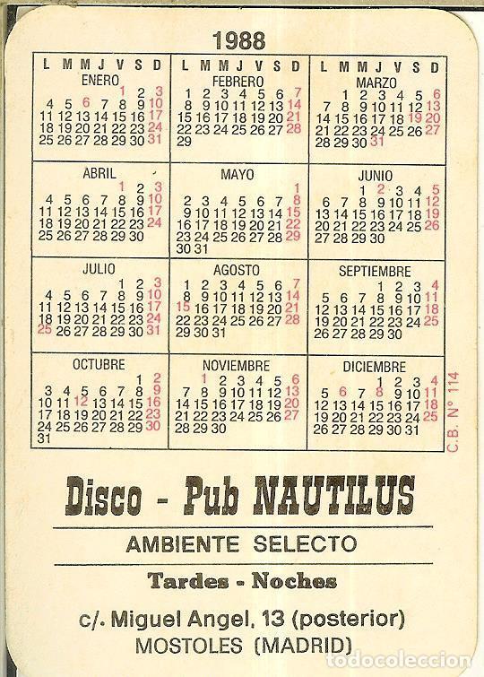 Coleccionismo Calendarios: CALENDARIO DE SERIE DIBUJO - 1988 - C.B. Nº 114 - Publicidad de Móstoles - Foto 2 - 222711081