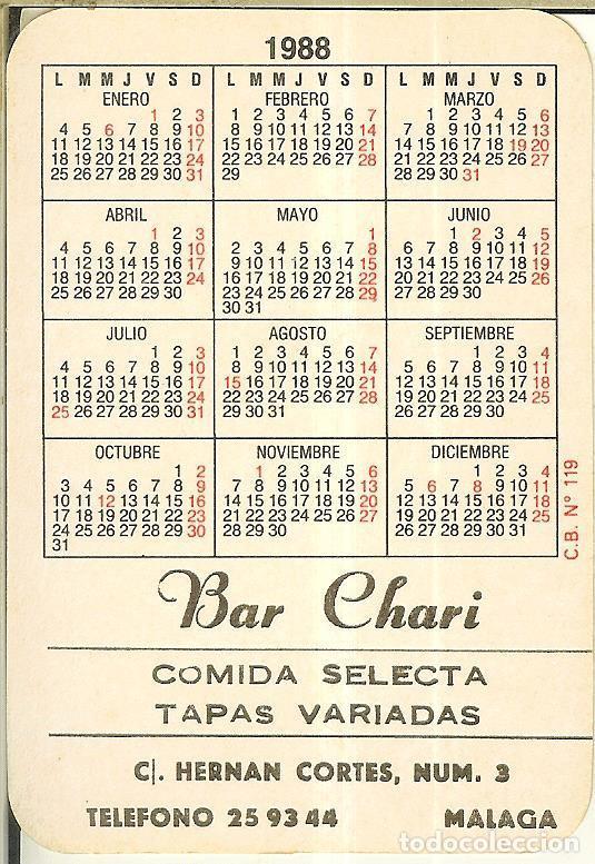 Coleccionismo Calendarios: CALENDARIO DE SERIE FÚTBOL - 1988 - C.B. Nº 119 - SELECCIÓN ESPAÑA - Foto 2 - 222711866