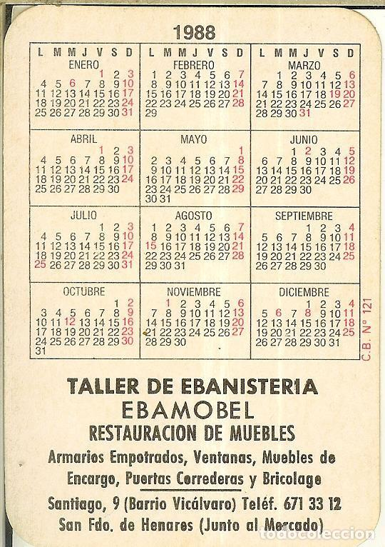 Coleccionismo Calendarios: CALENDARIO DE SERIE - 1988 - C.B. Nº 121 - Foto 2 - 222712077