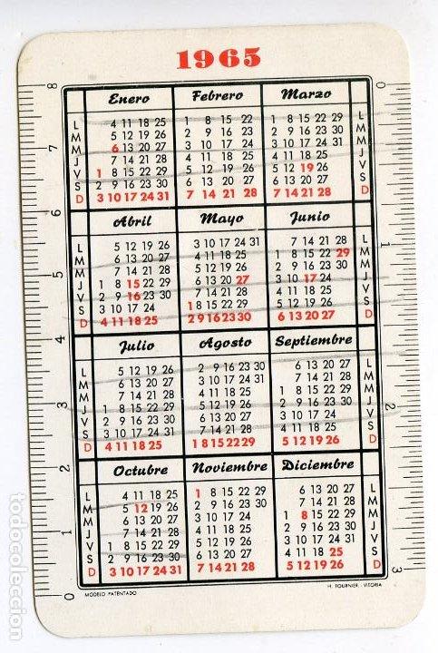 Coleccionismo Calendarios: Pepsi Cola, su tipo de refresco, Calendario Fournier de 1965 - Foto 2 - 222835920