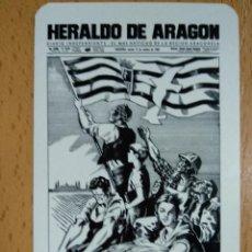 Coleccionismo Calendarios: CALENDARIO HERALDO ARAGON 1983. Lote 236052395