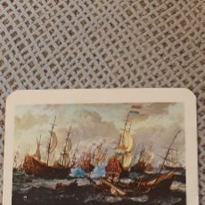 Coleccionismo Calendarios: 1972 BATALLA DE LOS CUATRO DIAS. ABRAHAM STORCK.NATIONAL MARITIMA MUSSEUM LONDRES. CON PUBLICIDAD.. Lote 224738602