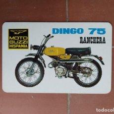 Coleccionismo Calendarios: CALENDARIO FOURNIER MOTO GUZZI HISPANIA DINGO 75 RANCHERA AÑO 1971. Lote 225137950