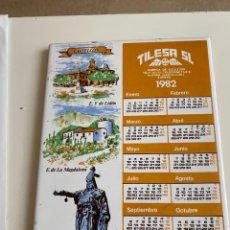 Coleccionismo Calendarios: C-2002 LOSA CALENDARIO 1982 TILESA SL. Lote 225300150