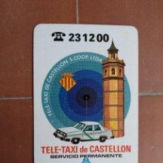 Coleccionismo Calendarios: CALENDARIO FOURNIER CAJA DE AHORROS DE VALENCIA TELE - TAXI DE CASTELLON AÑO 1987. Lote 226062407