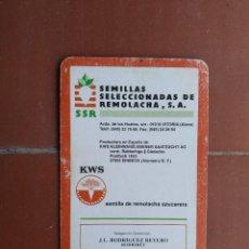 Coleccionismo Calendarios: CALENDARIO FOURNIER SEMILLAS SELECCIONADAS DE REMOLACHA AÑO 1994. Lote 226071611