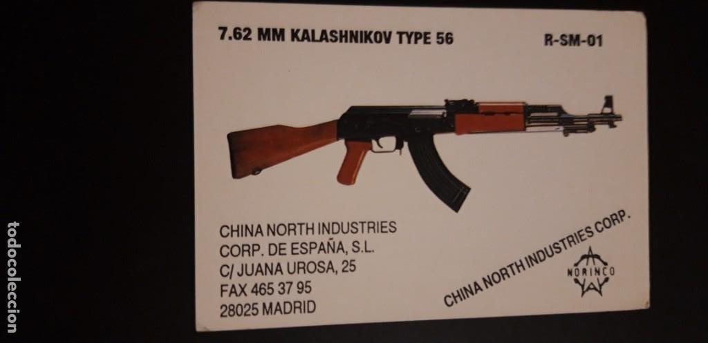 *1 CALENDARIO DE ** .KALASHNIKOV 56 . LA ARMERIA ** .AÑO 1991 ** (Coleccionismo - Calendarios)