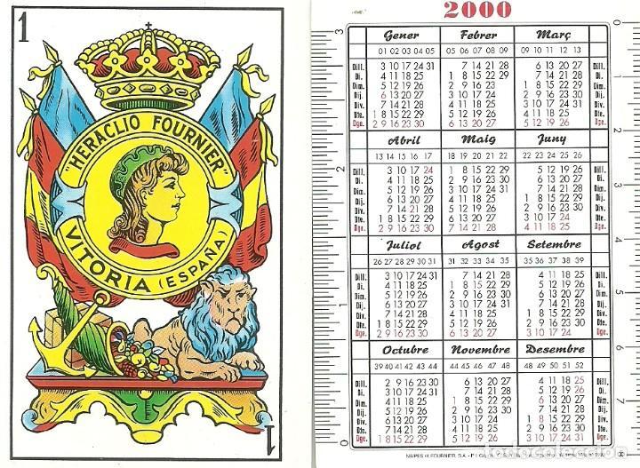 CALENDARIO HERACLIO FOURNIER 2000 - CATALÁN (Coleccionismo - Calendarios)