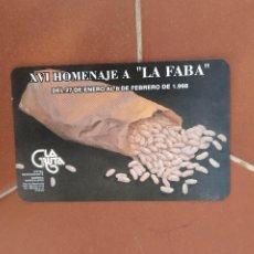 Coleccionismo Calendarios: CALENDARIO FOURNIER XVI HOMENAJE A LA FABA AÑO 1998. Lote 226299890