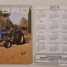 Collectionnisme Calendriers: CALENDARIO 1979 PUBLICIDAD TRACTORES EBRO. Lote 226371195