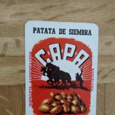 Coleccionismo Calendarios: CALENDARIO FOURNIER PATATAS CAPA AÑO 1966. VER FOTO ADICIONAL. Lote 226750744