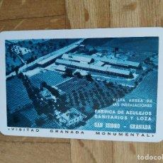 Coleccionismo Calendarios: CALENDARIO FOURNIER FABRICA DE AZULEJOS SAN ISIDRO. GRANADA. AÑO 1965. VER FOTO ADICIONAL. Lote 226775215