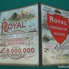 Coleccionismo Calendarios: CARTON PUBLICITARIO ROYAL COMPAÑIA DE SEGUROS. CALENDARIO 1984.. Lote 227165875