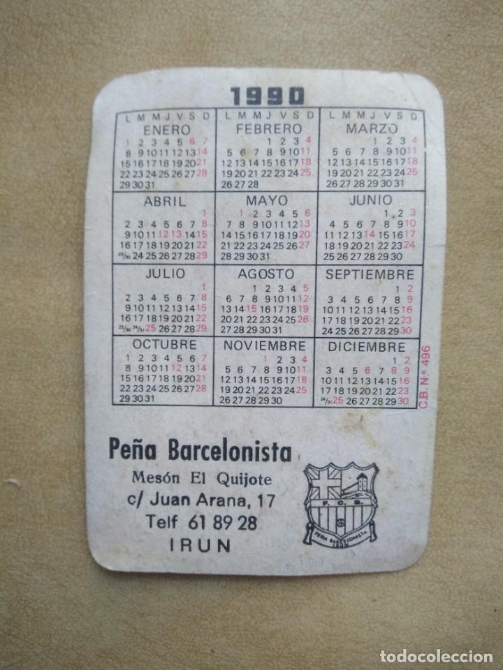 Coleccionismo Calendarios: calendario f.c b año 1990 - Foto 2 - 227978025