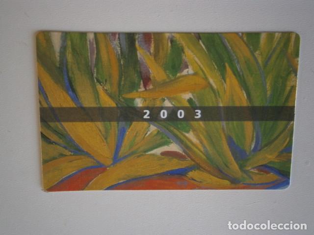 CALENDARIO DE BOLSILLO CAIXA CATALUNYA 2003 (Coleccionismo - Calendarios)