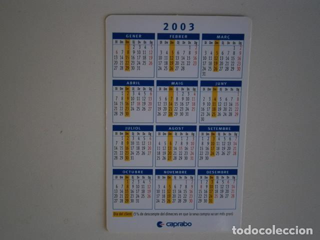Coleccionismo Calendarios: calendario de bolsillo Caprabo - Foto 2 - 229655965