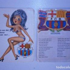 Coleccionismo Calendarios: CALENDARIO DE BOLSILLO F.C BARCELONA (2). Lote 229656230