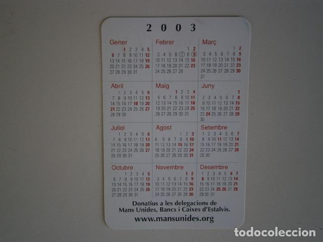 Coleccionismo Calendarios: calendario de bolsillo mans unides - Manos Unidas - Foto 2 - 229656310