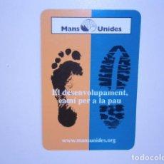 Coleccionismo Calendarios: CALENDARIO DE BOLSILLO MANS UNIDES - MANOS UNIDAS. Lote 229656310