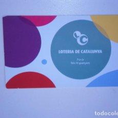 Coleccionismo Calendarios: CALENDARIO DE BOLSILLO LOTERIA DE CATALUNYA 2009. Lote 229656435