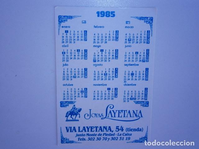 Coleccionismo Calendarios: calendario de bolsillo joya layetana barcelona - Foto 2 - 229656560