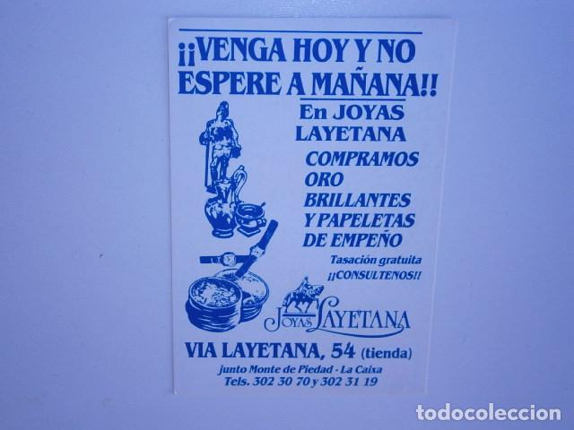 CALENDARIO DE BOLSILLO JOYA LAYETANA BARCELONA (Coleccionismo - Calendarios)