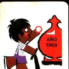 Coleccionismo Calendarios: CAJA DE AHORROS Y MONTE DE PIEDAD DE MADRID. H. FOURNIER CALENDARIO BOLSILLO. AÑO 1969. Lote 231761640