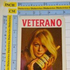 Coleccionismo Calendarios: CALENDARIO DE BOLSILLO FOURNIER. AÑO 1973. VETERANO OSBORNE MUJER BOTELLA BRANDY. Lote 231944750