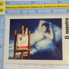 Coleccionismo Calendarios: CALENDARIO DE BOLSILLO FOURNIER. AÑO 1973. EL MAESTRO EN CIGARROS NEGROS. MAJA DESNUDA. Lote 231944910