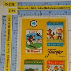 Coleccionismo Calendarios: CALENDARIO DE BOLSILLO FOURNIER. AÑO 1973. BARAJAS HF. PAREJAS CUENTOS GOOF OLÍMPICO CICLO VITAL. Lote 231944995