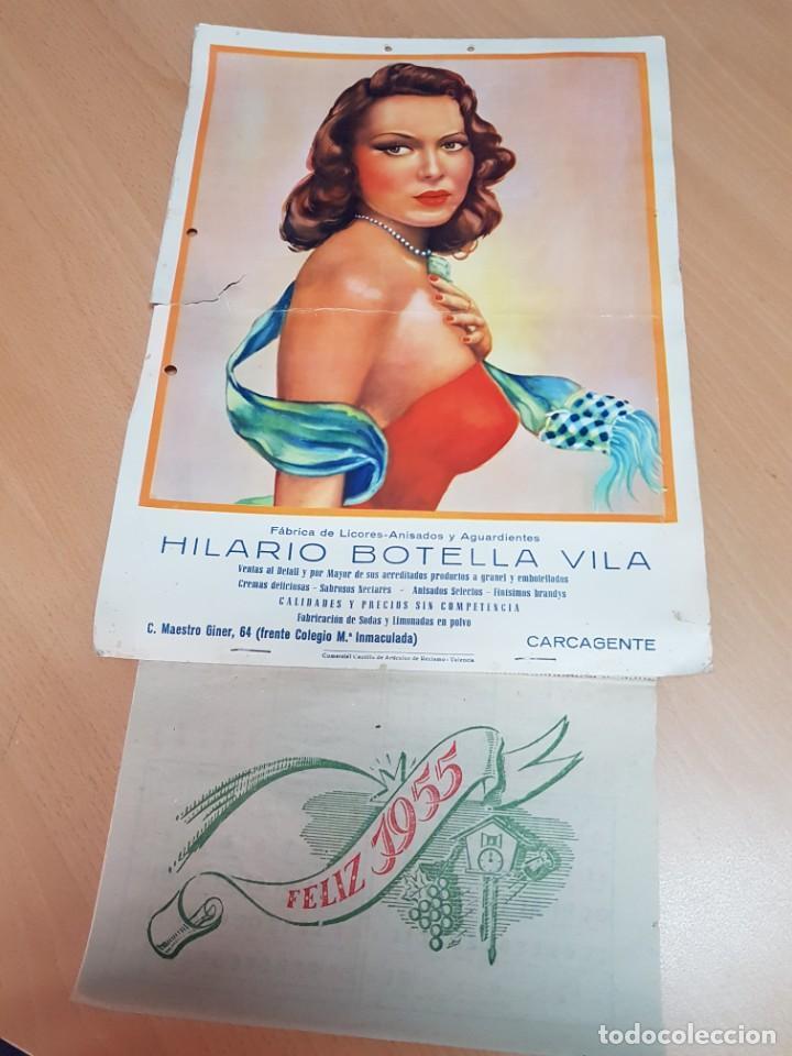 ANTIGUO ALMANAQUE CALENDARIO DE PARED PUBLICIDAD LICORES AGUARDIENTES CARCAGENTE VALENCIA (Coleccionismo - Calendarios)