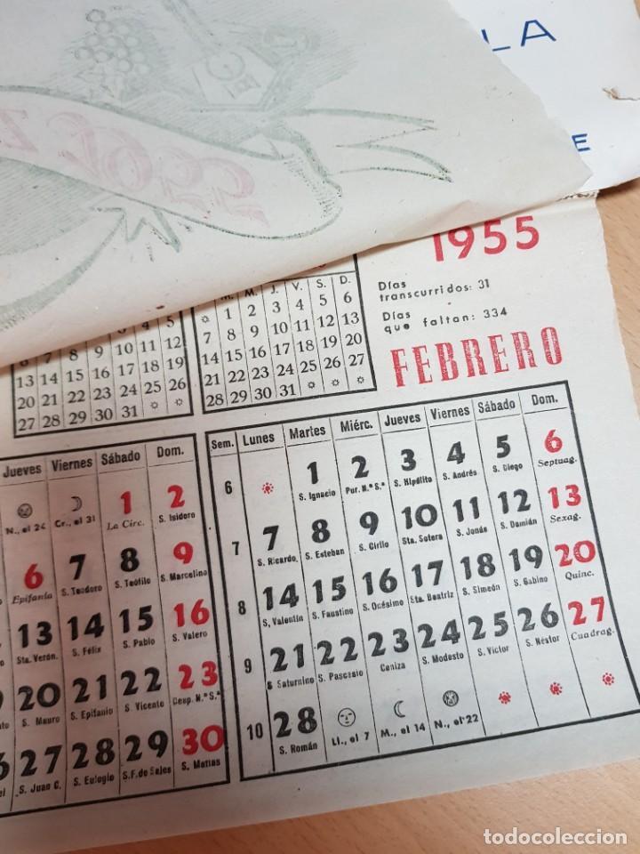 Coleccionismo Calendarios: ANTIGUO ALMANAQUE CALENDARIO DE PARED PUBLICIDAD LICORES AGUARDIENTES CARCAGENTE VALENCIA - Foto 2 - 231965980
