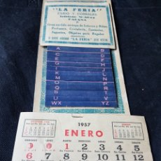 Coleccionismo Calendarios: CALENDARIO PARED GUIA TELEFONOS 1957 LA FERIA HABANA CUBA. Lote 233216635