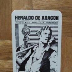 Coleccionismo Calendarios: CALENDARIO PUBLICITARIO HERALDO DE ARAGON AÑO 1987. VER FOTO ADICIONAL. Lote 233636860