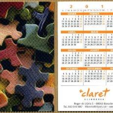 Coleccionismo Calendarios: CALENDARIOS BOLSILLO - CLARET 2010. Lote 234385900