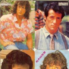 Coleccionismo Calendarios: 4 CALENDARIOS DE PORTUGAL - 1990 - SYLVESTER STALLONE. Lote 235082105