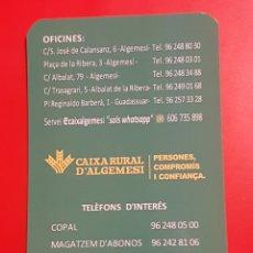 Coleccionismo Calendarios: CALENDARIO CAIXA RURAL D'ALGEMESI 2020. CAJA ALGEMESI. Lote 235840315
