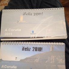 Coleccionismo Calendarios: CALENDARIO 2010 Y 2011 CORUÑA. Lote 235853470