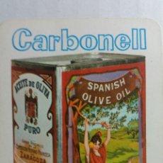 Coleccionismo Calendarios: CALENDARIO DE FOURNIER PUBLICIDAD ACEITE CARBONELL AÑO 1966. Lote 236258075