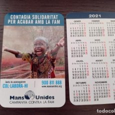 Colecionismo Calendários: CALENDARIO PUBLICITARIO. MANOS UNIDAS. EN CATALÁN. AÑO 2021. Lote 236297245