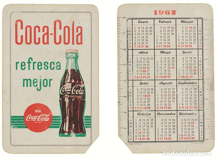 CALENDARIO FOURNIER COCA-COLA 1962 (Coleccionismo - Calendarios)