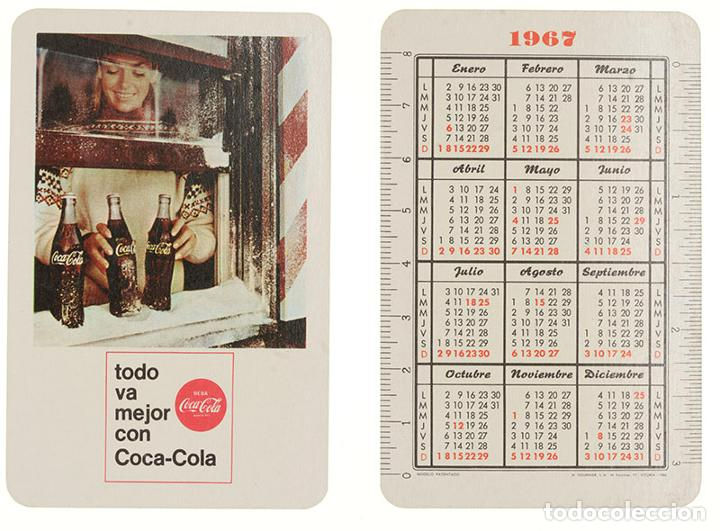 CALENDARIO FOURNIER COCA-COLA 1967 (Coleccionismo - Calendarios)