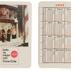 Coleccionismo Calendarios: CALENDARIO FOURNIER COCA-COLA 1967. Lote 236492845