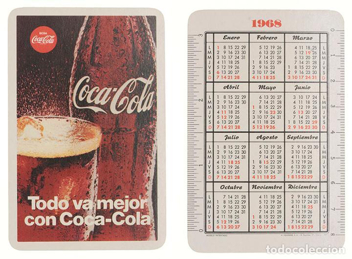 CALENDARIO FOURNIER COCA-COLA 1968 (Coleccionismo - Calendarios)